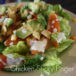 Chicken Sticky Finger Salad