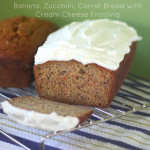 To Frost Or Not To Frost (Banana, Zuchinni, Carrot Bread with Lemon Cream Cheese Frosting)