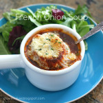 French Onion Soup with Bleu Cheese Toasts