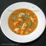Thai Coconut Chicken Red Lentil Soup