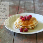 100% Whole Wheat Blender Pancakes