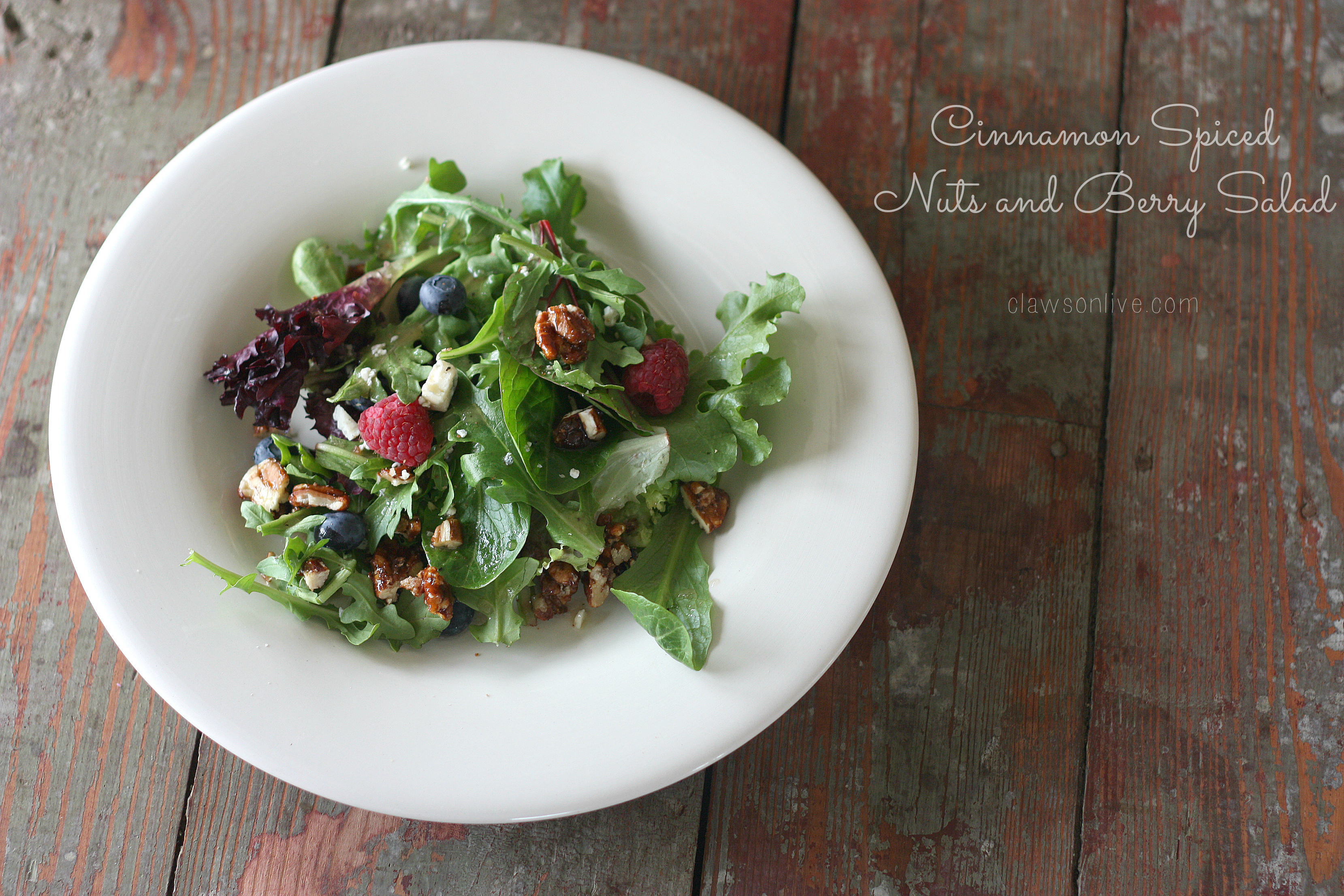 Cinnamon Spiced Nuts and Berry Salad