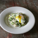 Spring Green Risotto with Poached Egg